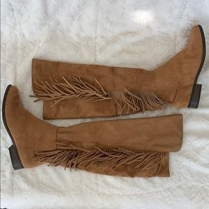Brand new Mossimo fringe boots